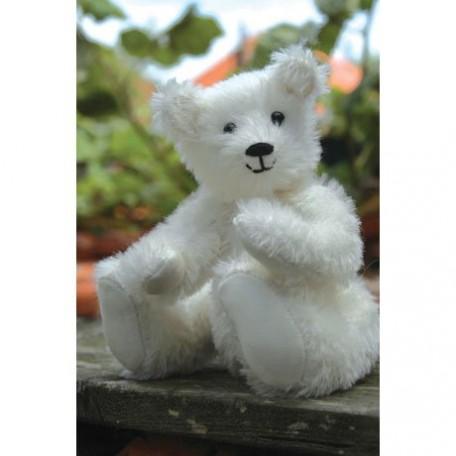 WIT.A53200 Набор для изготовления вальдорфской игрушки DE WITTE ENGEL 'Белый медвежонок' h=18см