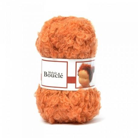 WIT.H04540 Кукольные волосы DE WITTE ENGEL 91% шерсть, 9% акрил, 50м/50г цв.оранжевый