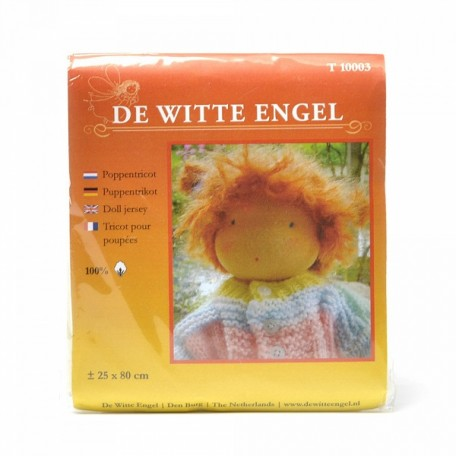 WIT.T10003 Телесный трикотаж для вальдорфских кукол DE WITTE ENGEL 25*80см цв.серовато-бежевый