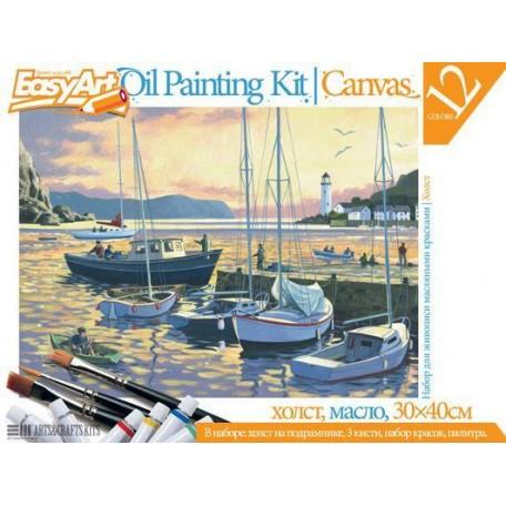 Набор для творчества Easy Art арт.737005 набор для живописи №5 'Вечерняя гавань'