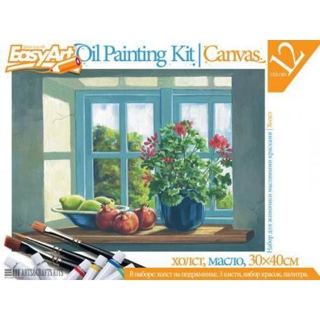Набор для творчества Easy Art арт.737006 набор для живописи №6 'Цветы на окне'