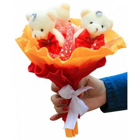 Набор для творчества из мягких игрушек 'Колор Кит' арт.КК.3MP Розовые фантазии букет
