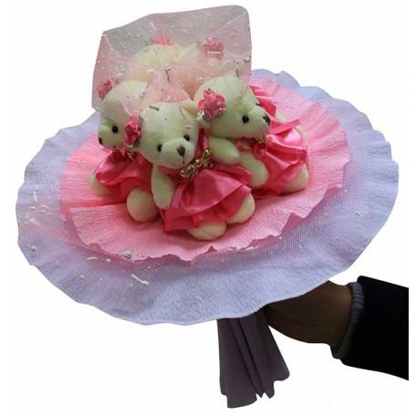 Набор для творчества из мягких игрушек 'Колор Кит' арт.КК.5MP Розовые фантазии букет