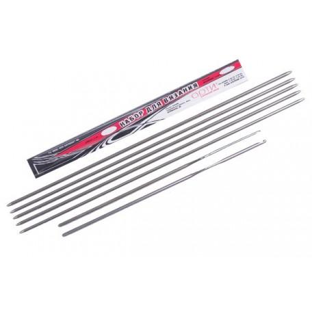 Набор для вязания арт.АРТИ-1,9 спицы 5шт+крючки 2шт