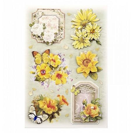3D Стикеры арт.DJS-604A цветы