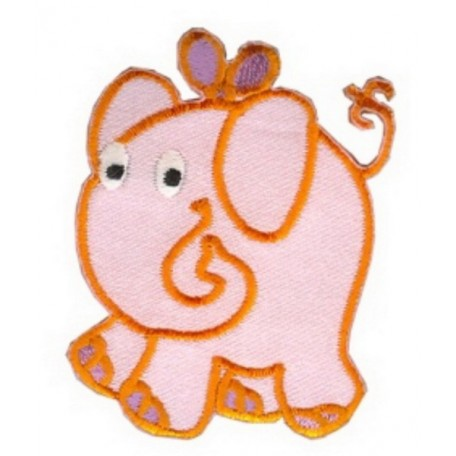 Нашивка арт.НРФ.13493153 Слон розовый