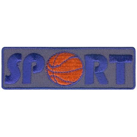 Нашивка арт.НРФ.15612169 Спорт-баскетбол серый