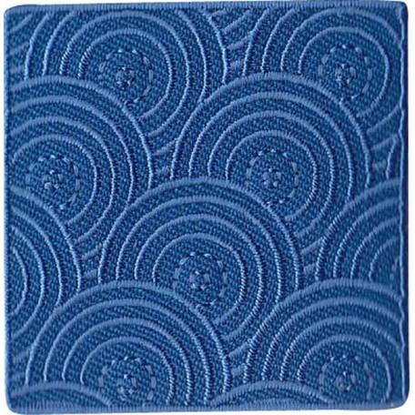 Нашивка арт.НРФ.15881174 Заплатка 'Диски' синяя
