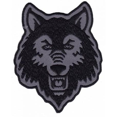 Нашивка арт.НРФ.17121185 Дикий волк цв. серый