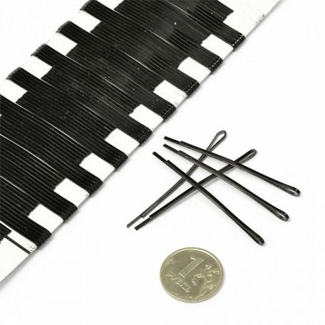 Невидимки для волос арт.NV.KG101H 5,5 см прямые цв. черный уп. 100 шт