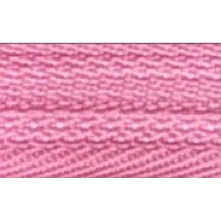 Молния мет. никель №3 1зам. NS-015.НИК. 40 см. цв.133 розовый