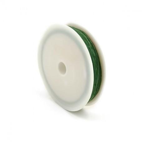 Нить силиконовая арт.ТВ 0215-1012 0,6мм цв.3041 зеленый рул.30м