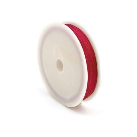 Нить силиконовая арт.ТВ 0215-1012 0,6мм цв.3084 фуксия рул.30м