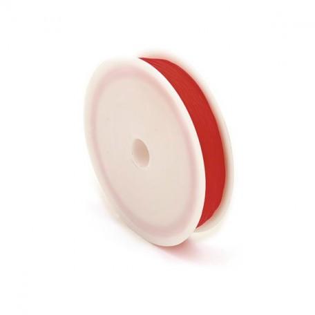 Нить силиконовая арт.ТВ 0215-1012 0,6мм цв.3095 красный рул.30м