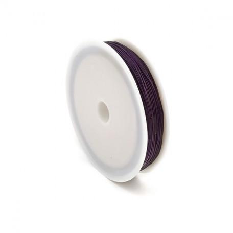 Нить силиконовая арт.ТВ 0215-1012 0,6мм цв.3118 фиолетовый рул.30м