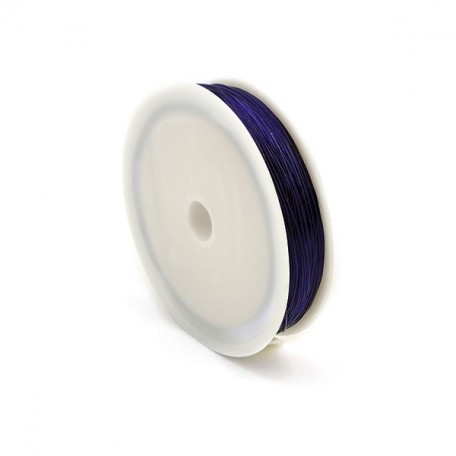 Нить силиконовая арт.ТВ 0215-1012 0,6мм цв.3162 голубой рул.30м