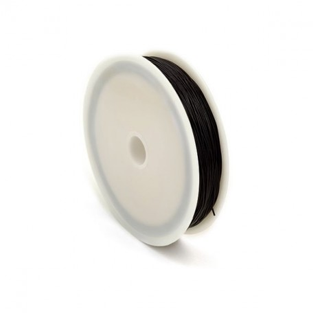 Нить силиконовая арт.ТВ 0215-1012 0,6мм цв.черный рул.30м