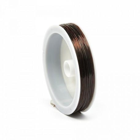 Нить силиконовая арт.ТВ 0215-1012 0,6мм цв.коричневый рул.30м