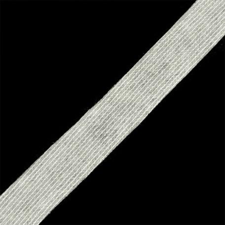 Лента нитепрошивная клеевая 25мм х 50м. цв.белый