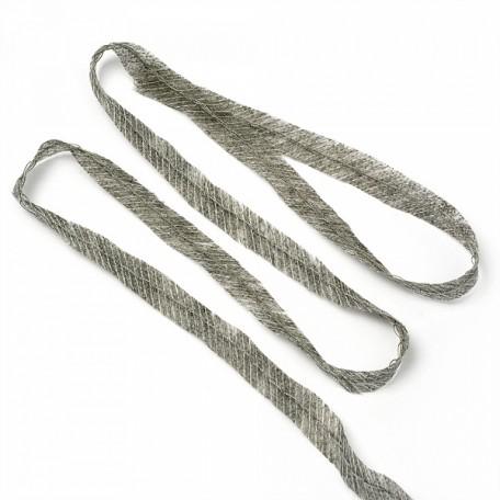 Лента нитепрошивная клеевая по косой с нитью арт.LNP.10КМ 10мм х 100м. цв.серый А