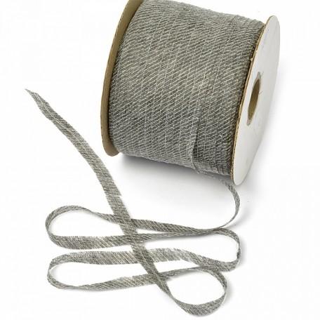 Лента нитепрошивная клеевая по косой с нитью арт.LNP.8КМ 8мм х 200м. цв.серый А