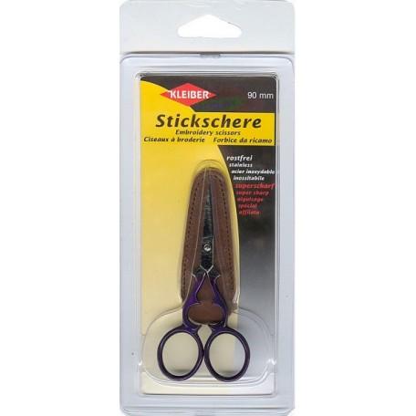 KL.920-49 Ножницы эконом класса для шитья, вышивания, длина 9 см, с кож.чехлом