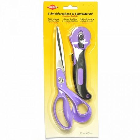 KL.921-48 Kleiber Набор для шитья ножницы портновский 24.5см нож портновский 17см цв.фиолетовый