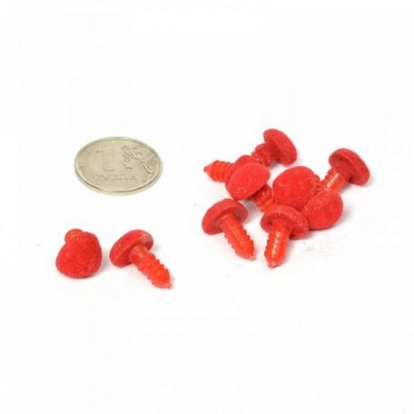 Носик винтовой арт.КЛ.21405 №10 бархатный с креплением, цв. красный