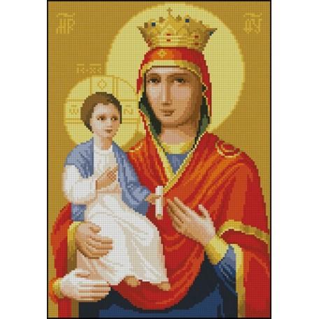 Канва с рисунком 'НОВА СЛОБОДА' арт.МАХ.А-4020 А4 'Богородица Троеручица'