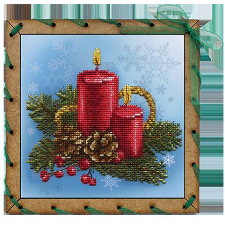 Наборы для вышивания 'НОВА СЛОБОДА' арт.ОР 7505 'Праздничные свечи' 15х15 см