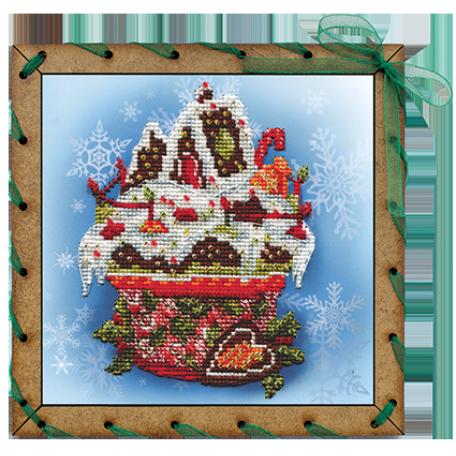 Наборы для вышивания 'НОВА СЛОБОДА' арт.ОР 7506 'Праздничный десерт' 15х15 см