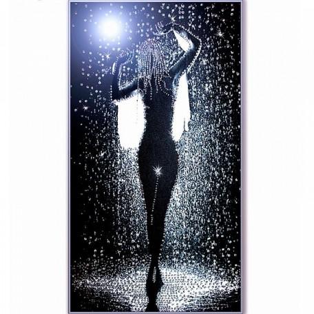 Набор для вышивания хрустальными бусинами ОБРАЗА В КАМЕНЬЯХ арт. 5513 'Дождь' 29х49,5 см