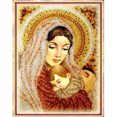 Набор для вышивания хрустальными бусинами ОБРАЗА В КАМЕНЬЯХ арт. 5522 'Дева Мария'