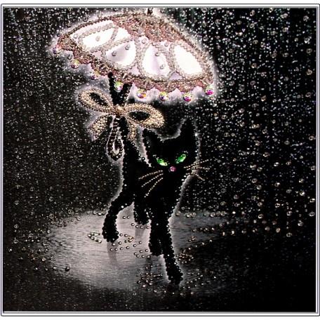 Набор для вышивания хрустальными бусинами ОБРАЗА В КАМЕНЬЯХ арт. 5525 'Соло под дождем'