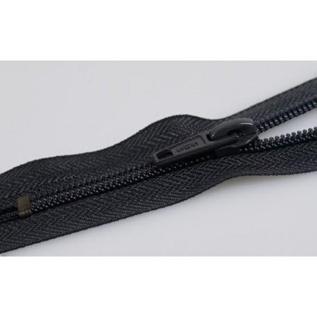Молния пласт.обувная №7-AS 14см. цв.черный