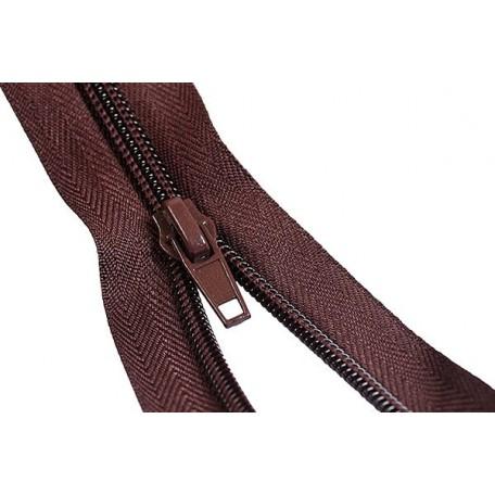 Молния пласт.обувная №7-C 25см. цв.т.коричневый