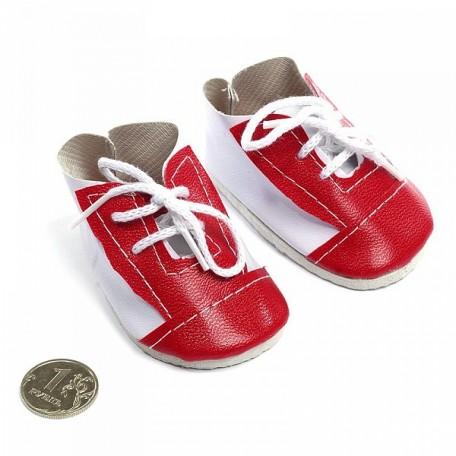 Ботиночки для кукол арт.КЛ.21892 75мм цв.бел/красный