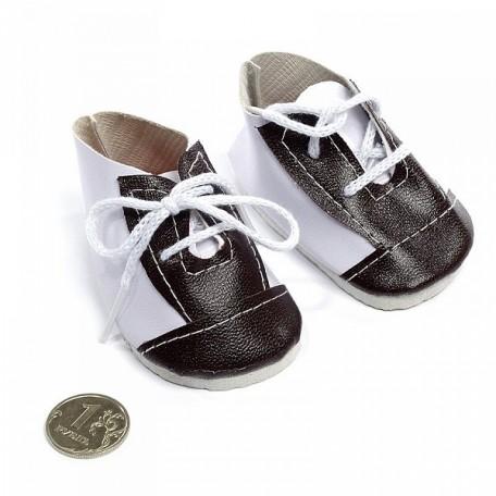 Ботиночки для кукол арт.КЛ.21893 75мм цв.бел/коричневый