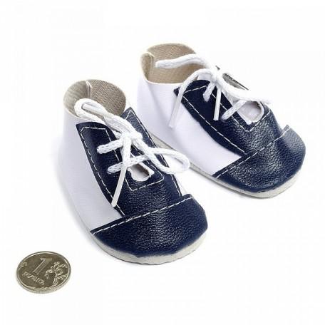 Ботиночки для кукол арт.КЛ.21894 75мм цв.бел/синий