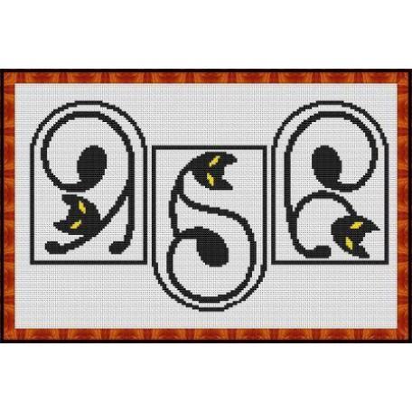 Набор для вышивания 'Орнамент' арт. ВФ-005 'Витражные коты' 18х30
