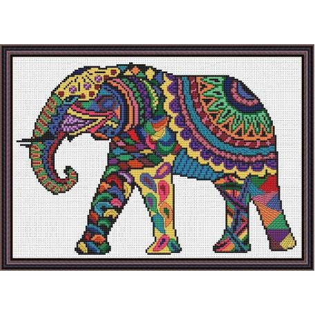 Набор для вышивания 'Орнамент' арт. ВФ-006 'Яркий слон'