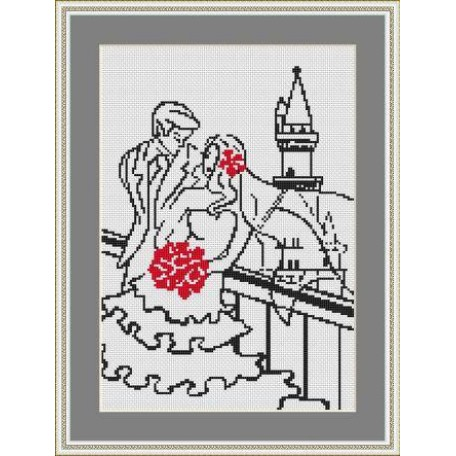 Набор для вышивания 'Орнамент' арт. ВЛ/ВЗ-004 'Молодожены' 20х30