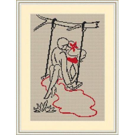 Набор для вышивания 'Орнамент' арт. ВЛ/ВЗ-009 'Поцелуй' 20х30