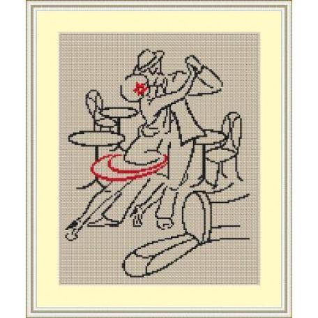 Набор для вышивания 'Орнамент' арт. ВЛ/ВЗ-010 'Страсное танго' 20х30
