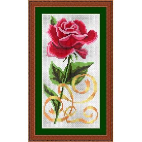 Набор для вышивания 'Орнамент' арт. ВЦ-003 'Красная роза' 10х20