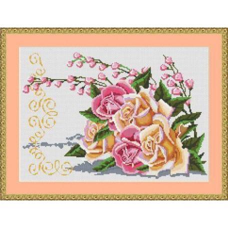 Набор для вышивания 'Орнамент' арт. ВЦ-007 'Роза' 36х25
