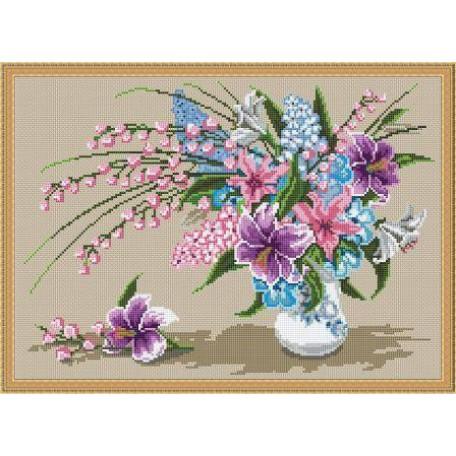 Набор для вышивания 'Орнамент' арт. ВЦ-008 'Букет с лилиями' 35х25