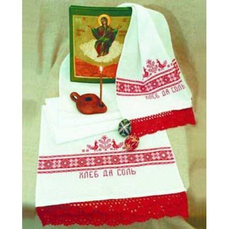 Набор для вышивания арт.Овен - 003 'Хлеб да соль' (рушник) 40х160 см