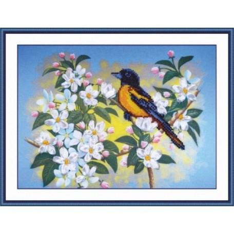 Набор для вышивания арт.Овен - 006-РТ 'Птичка на яблоне'