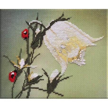 Набор для вышивания арт.Овен - 008 'Белый колокольчик' 17?16 см